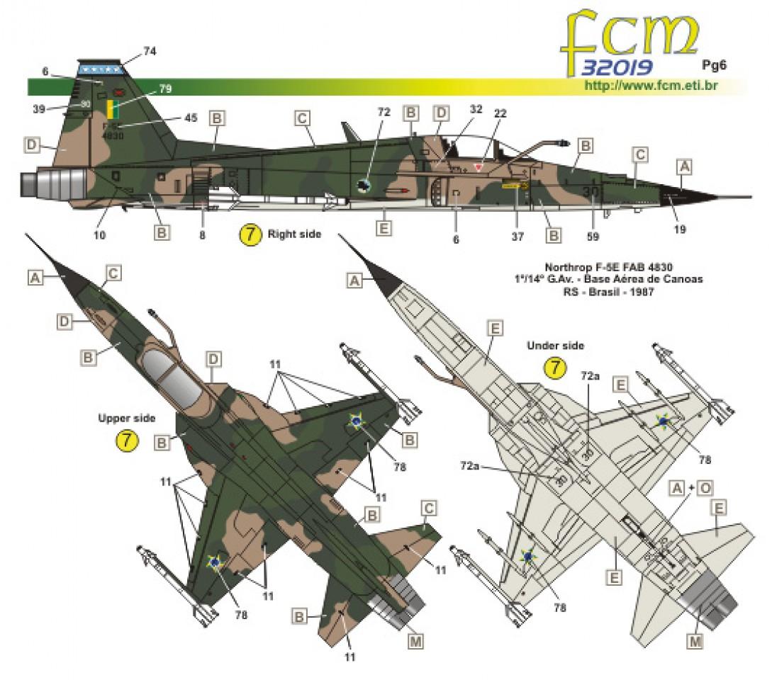 FCM DECALS 1//32 F-5E Tiger II # 32019