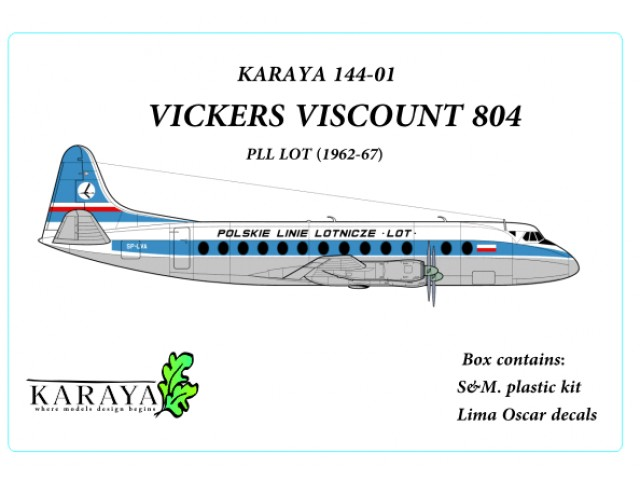 Vickers Viscount 804 PLL LOT - LIMITED !