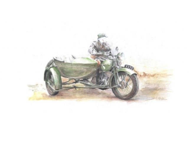 HEAVY MOTORCYCLE M111 SOKÓŁ (FALCON)1000 with SIDE CAR
