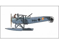 "Hansa-Brandenburg W 12/V ""Long Fuselage"" Version Mercedes D.III Aero Engine"