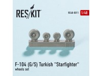 "Lockheed F-104 (G/S) Turkish ""Starfighter"" wheels set"