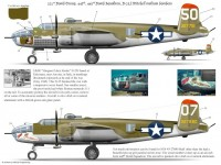 "B-25J ""MMR"" of the 321st BG/447th BS and ""Stuff"" of the 321st BG/445th BS"