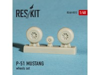North American P-51 MUSTANG wheels set