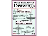 Dornier Do-335 & Focke Wulf Fw-190 to Ta-153 (1/144) Detail  Scale  Aircraft  Drawings