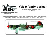 Yak-9 (early series) Conversion set for kit VALOM Yak-7