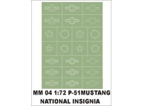 National insignia 1/72 P-51 Mustang