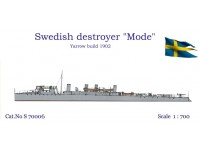 "Swedish Destroyer ""Mode"" 1902"