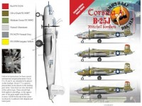 "Corsica B-25J Mitchell Bombers- Limited Edition ""Super Sheet"""