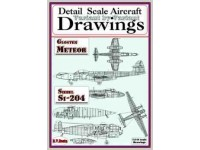 Gloster Meteor & Siebel Si-204 (1/144) Detail  Scale  Aircraft  Drawings