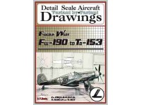 Focke Wulf Fw-190 to Ta-153 (1/48) Detail  Scale  Aircraft  Drawings