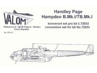 Handley Page Hampden B.Mk.I / TB. Mk.I Conversion Set