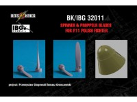 PZL P.11C (IBG) resin spinner and propeller blades