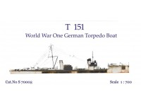 T 151 World War I German Torpedo Boat