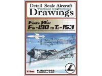 Focke Wulf Fw-190 to Ta-153 (1/72) Detail  Scale  Aircraft  Drawings