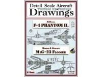 F-4 Phantom II & MiG 23 Flogger (1/144) Detail  Scale  Aircraft  Drawings
